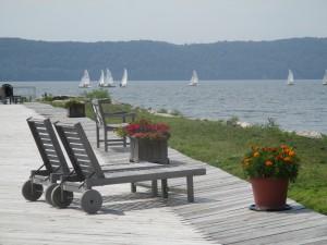 Boardwalk and Sailboats photo