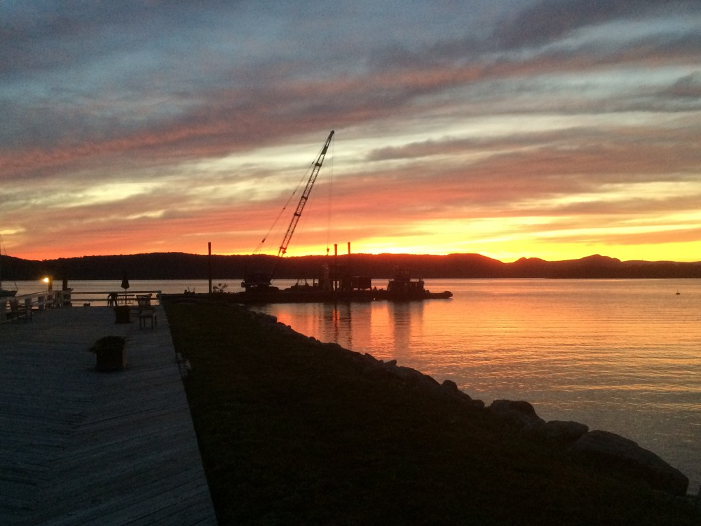 DCW Crane at dusk